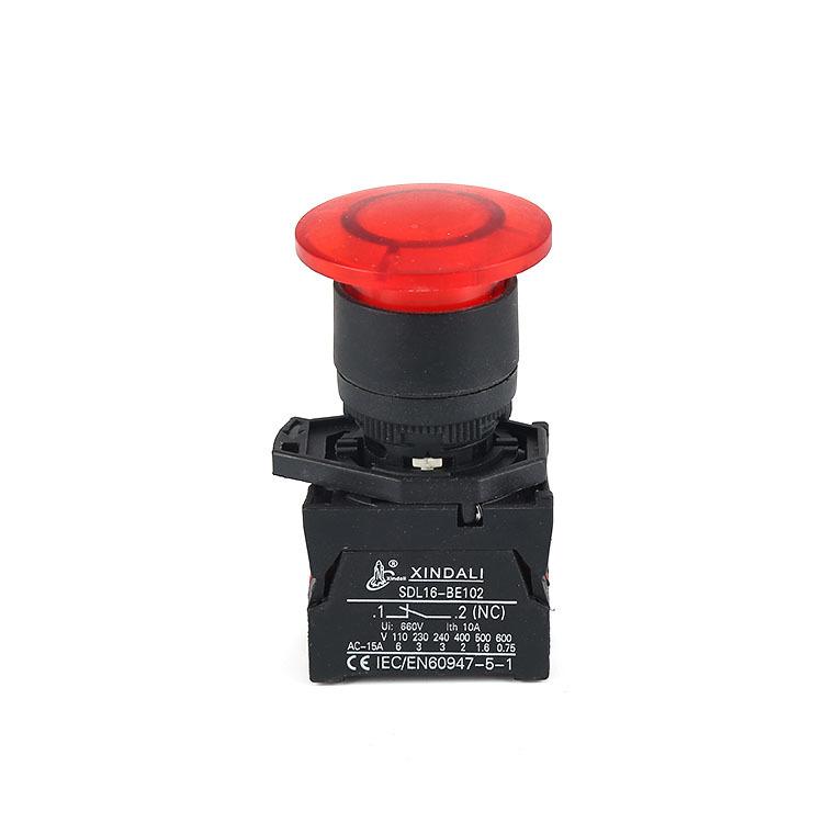 Emergency push button led push button waterproof IP65 XDL21-EWC42