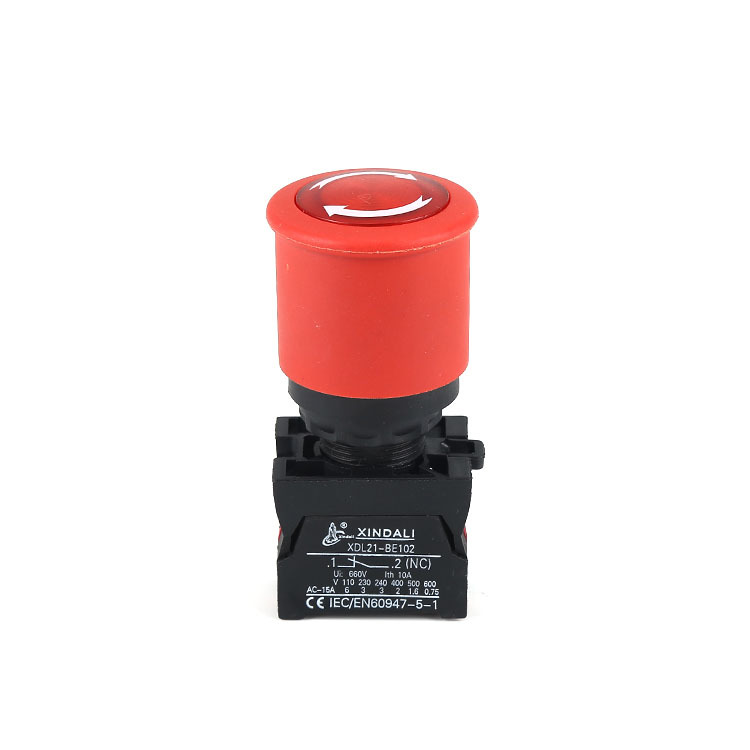 Emergency push button red push button switch LED waterproof IP67 XDL22-ESW542
