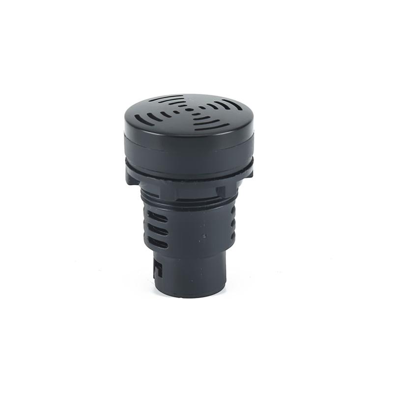 30mm black 110v industrial buzzer push button sound buzzer AD22-30MFD