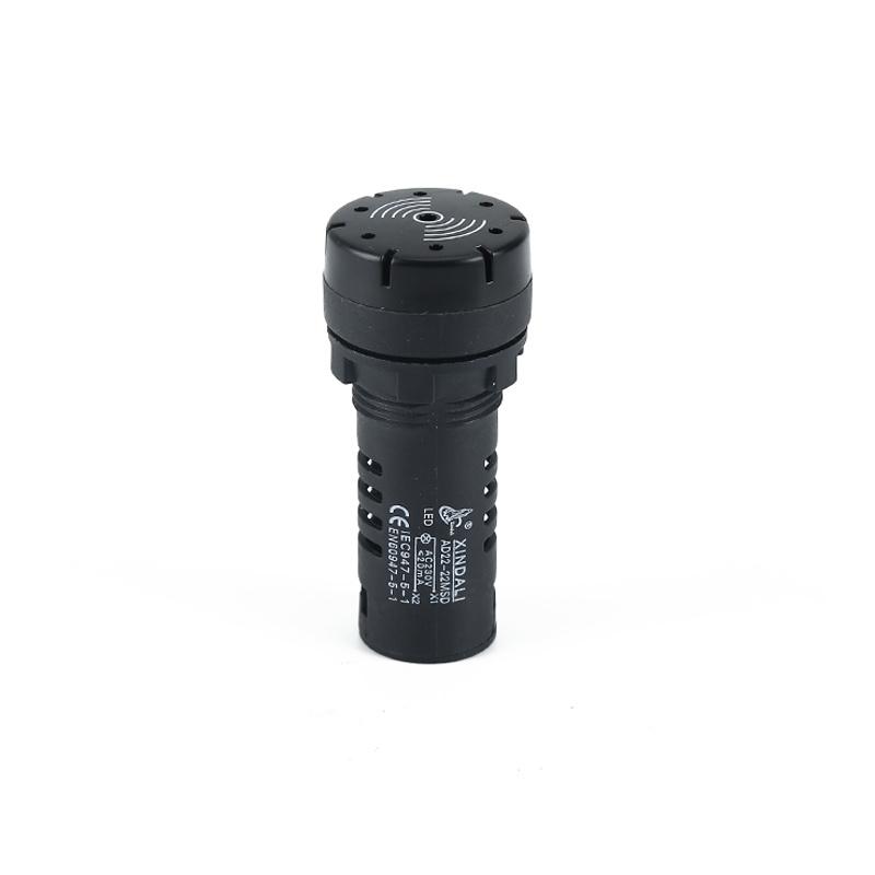 industrial plastic black warning indicator sound buzzer AD22-22MFD
