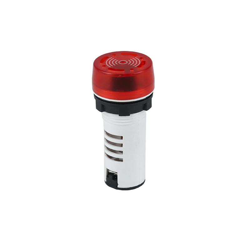 220v led sound plastic red indicator light buzzer AD22-22MSB