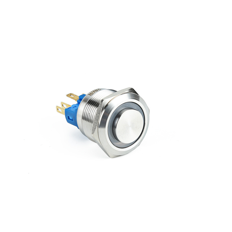 industrial AC 22mm stainless steel push button v12 led high head light ring switch XDL17-22NLE15/C