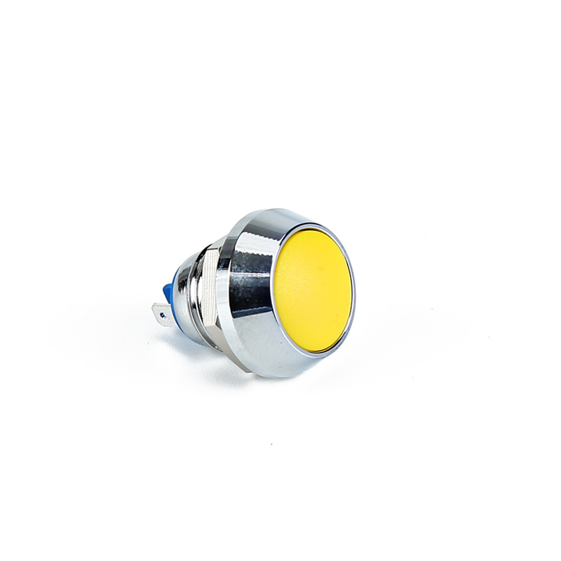 ball waterproof metal 12mm yellow momentary push button switch XDL17-12NB51/S