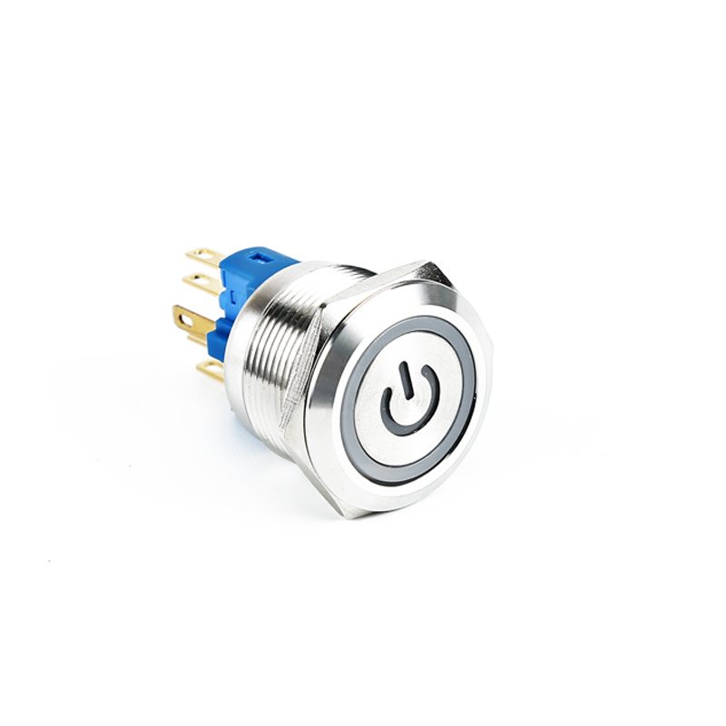 elevator 22mm lamp push button metal switch with power ring XDL17-22NAEP15/C