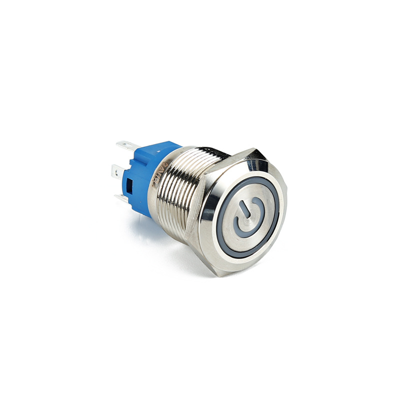 Waterproof momentary switch power LED waterproof metal push button IP67 XDL17-16NAEP15C