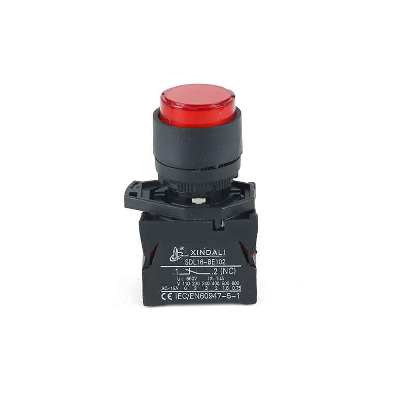 waterproof covers with led indicator spring return switch light XDL21-EWL3462