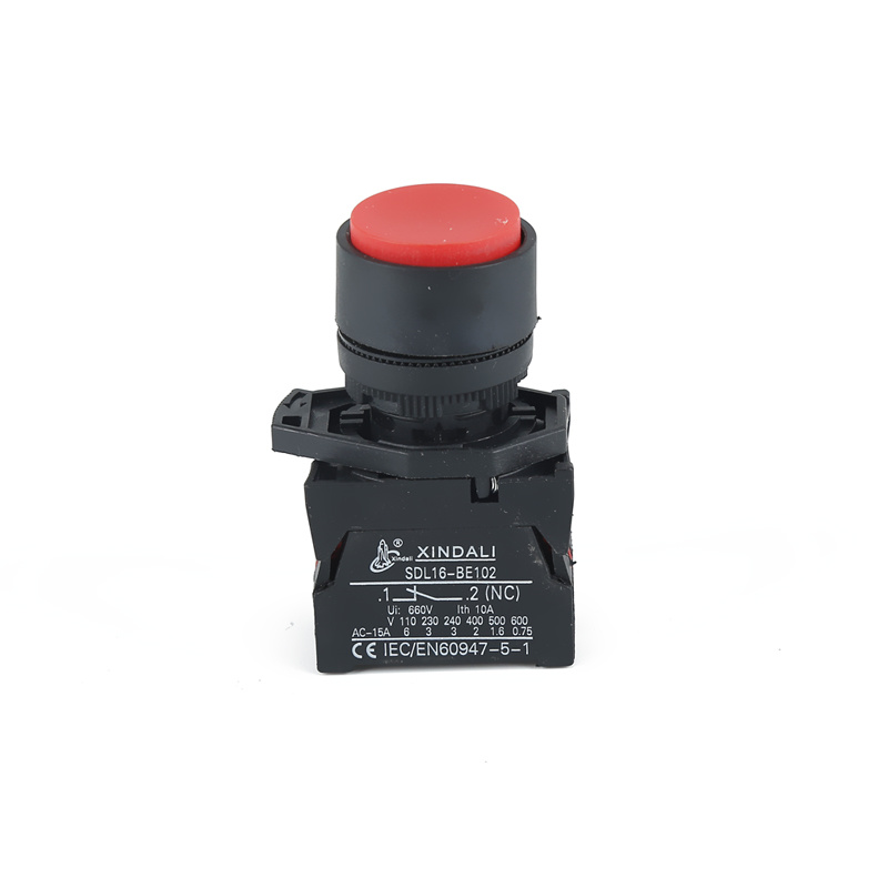 waterproof switch ip65 china red plastic convex button XDL21-EL42