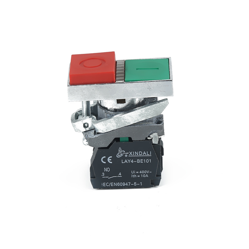 double electrical switch lamp on off switch green and red push button LAY4-BW8465