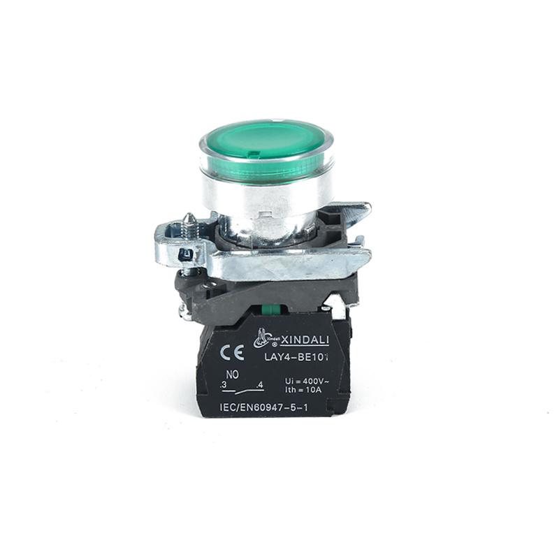led push button 22mm green pilot button indicator light switch LAY4-BW3361