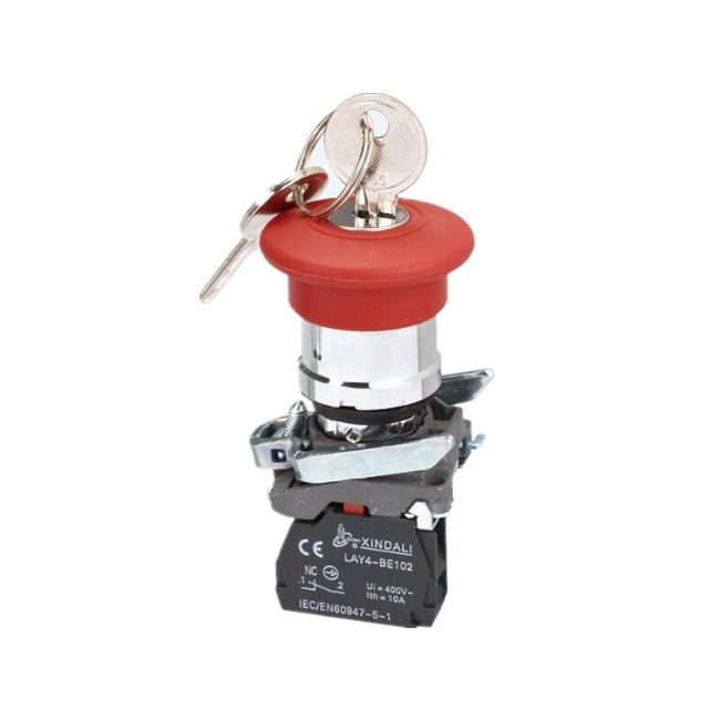 mushroom head with key selectors electric 3 position elevator emergency key release switch LAY4-BS142