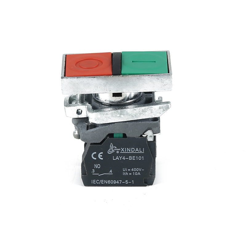 O I switch double head pushbutton on off push button switch LAY4-BL8325