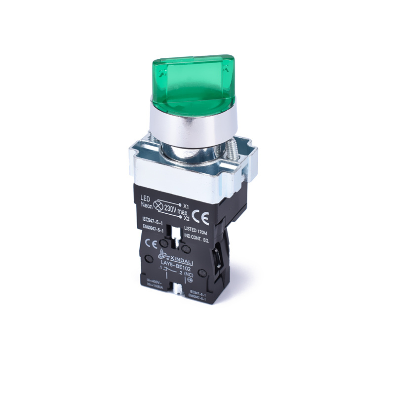 LED on off flush momentary selector push button switch  LAY5-BK2365