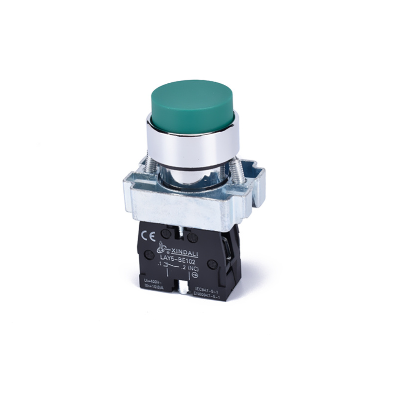 green spring return pushbutton switch convex switch LAY5-BL31