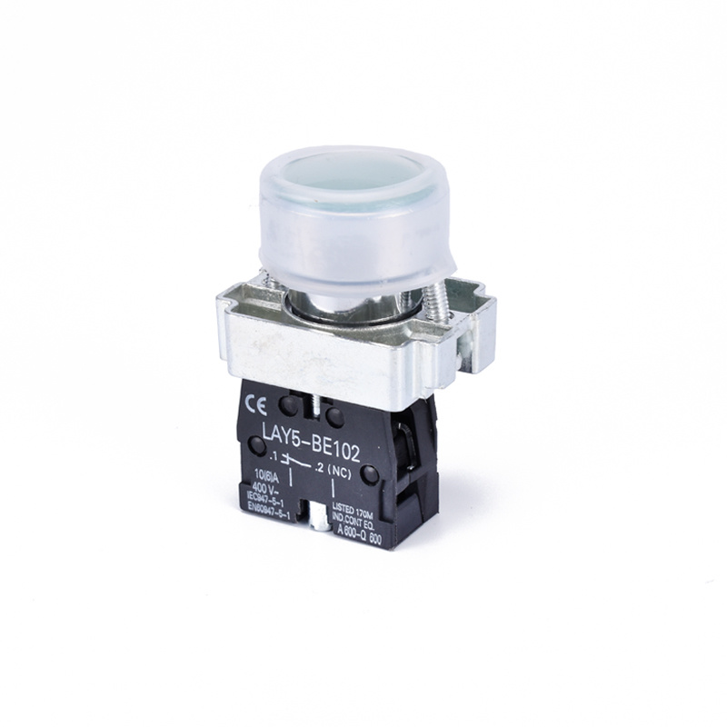 flush waterproof cap metal push button switch with protective cap LAY5-BP31
