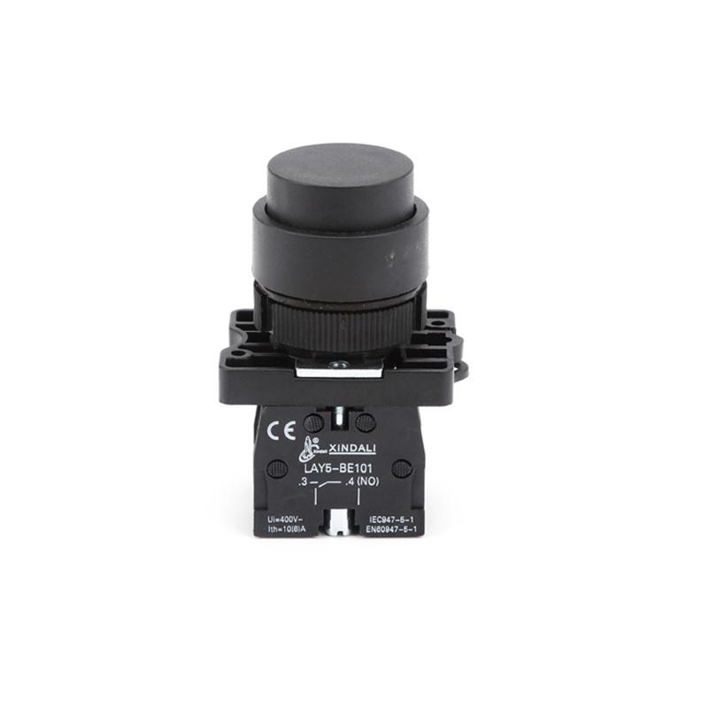 black plastic convex head no nc push elevator push button switch LAY5-EL21