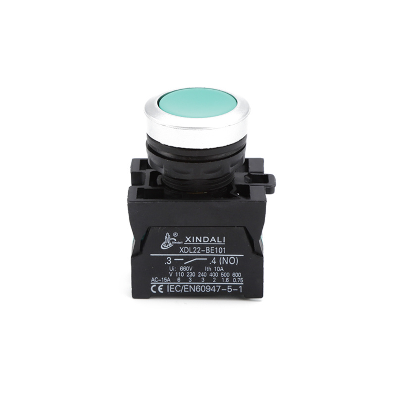 ip67 spring return green waterproof push button switch XDL22-CA31