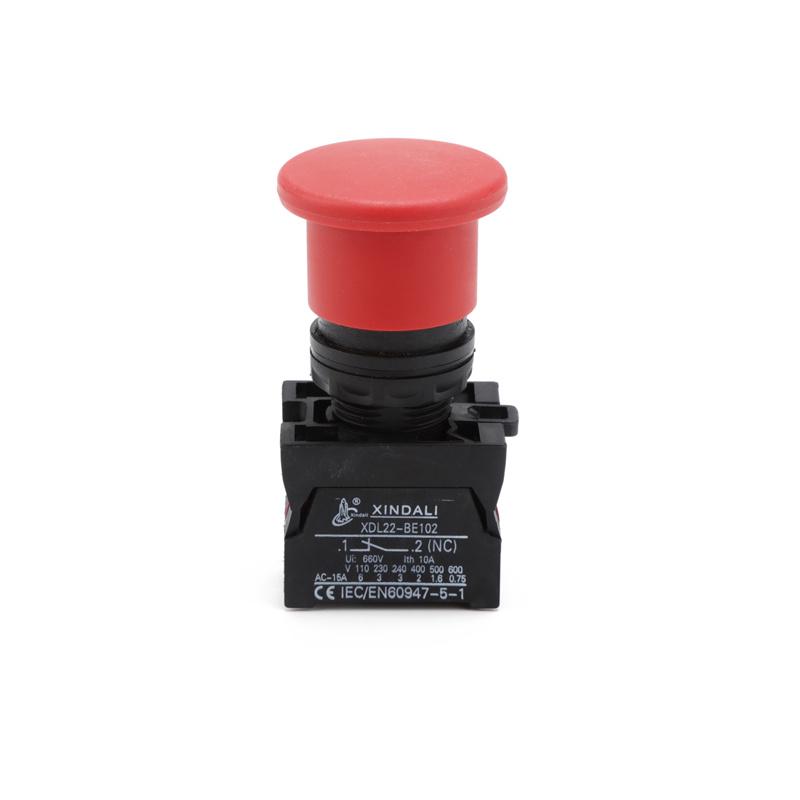 ip67 22mm mushroom emergency momentary push pull push button switch XDL22-EC42