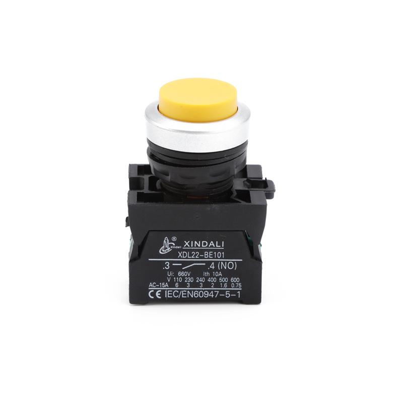 waterproof ip67 convex head no nc push elevator push button switch XDL22-CL51