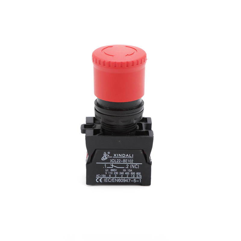 ip67 rings emergency stop mushroom type button switch XDL22-ES442