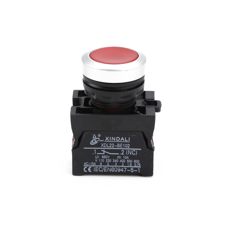 elevator red led ip67 switch electric push button with light XDL22-CW3462