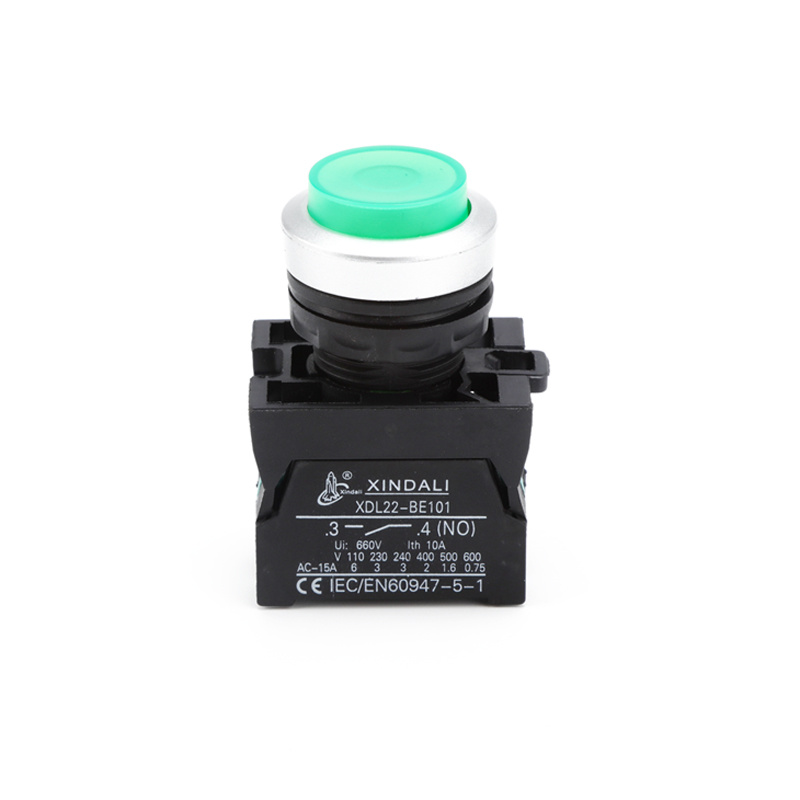 led indicator convex ip67 waterproof push button switch XDL22-CWL3361
