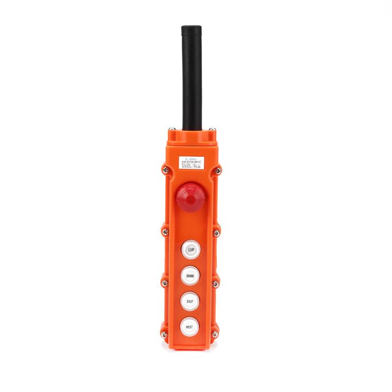 5 button crane remote push button cob station box emergency pendant box XCD-62CB
