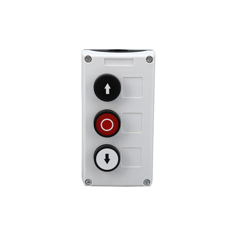 3 holes on off on switch pushbutton with electronic plastic box XDL35-B334