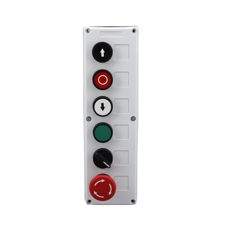 xb5 push button switch 6 holes control with selector lay5 button box XDL35-B634