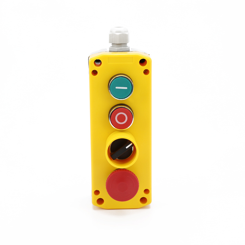 XDL721-JB463P electric waterpoof 4 hole push button box with selector switch