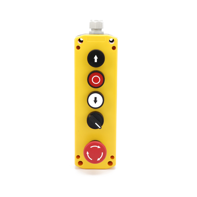 5 pendant push button controller remote control with emergency stop XDL75-JB525P