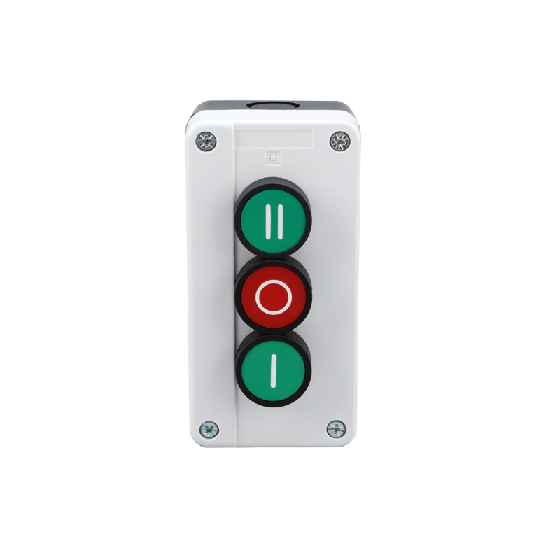 3 holes button with mark inspection box push button control box XDL55-B339