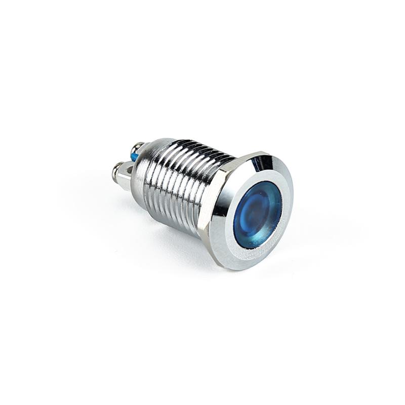 led screw terminal metal pilot indicator light metal signal lamp AD22C-12A/S