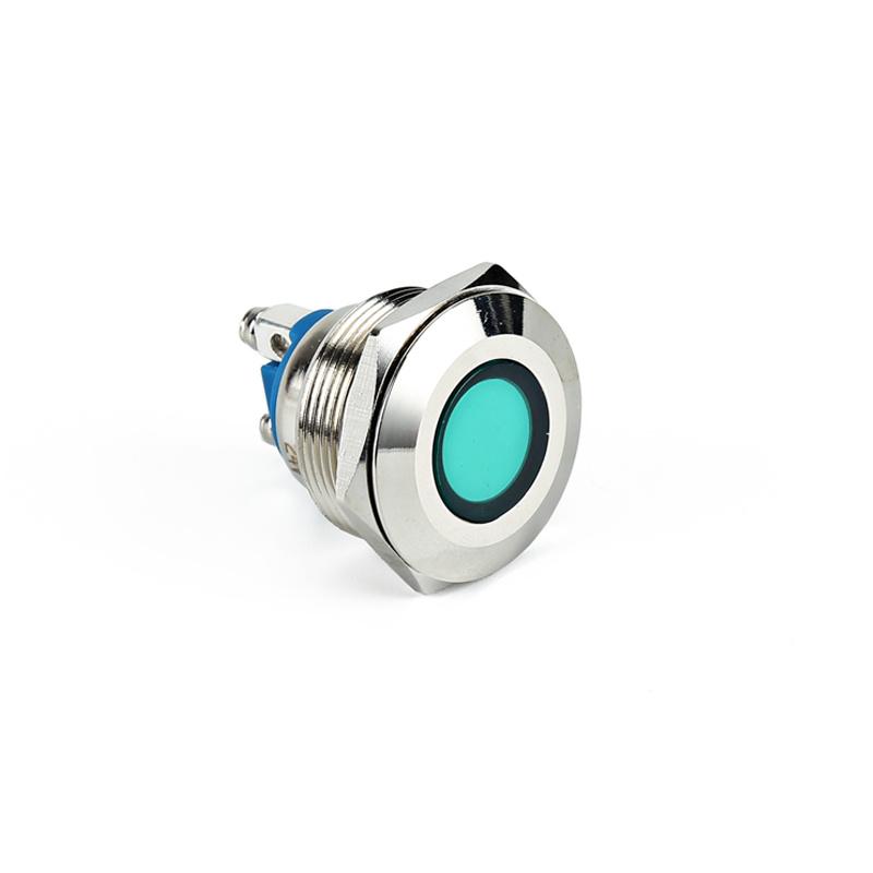waterproof metal round flush 16mm led indicator light metal signal lamp AD22C-16A/S