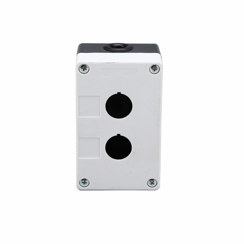 2 holes white industrial push button box plastic enclosure box XDL5-B02