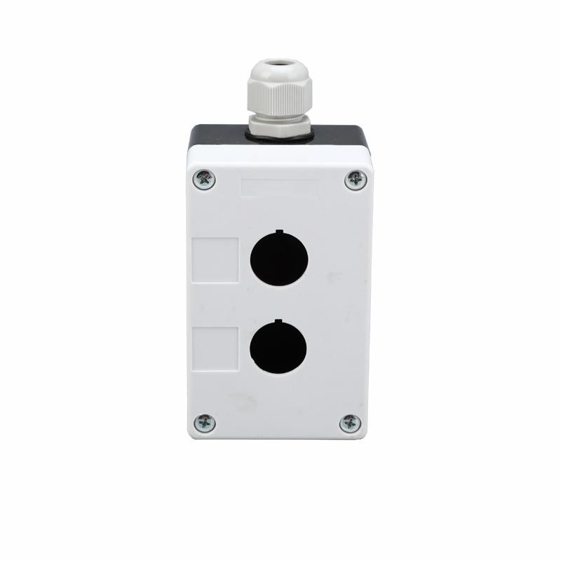 plastic ip54 2 hole on off switch waterproof pushbutton box XDL5-B02P