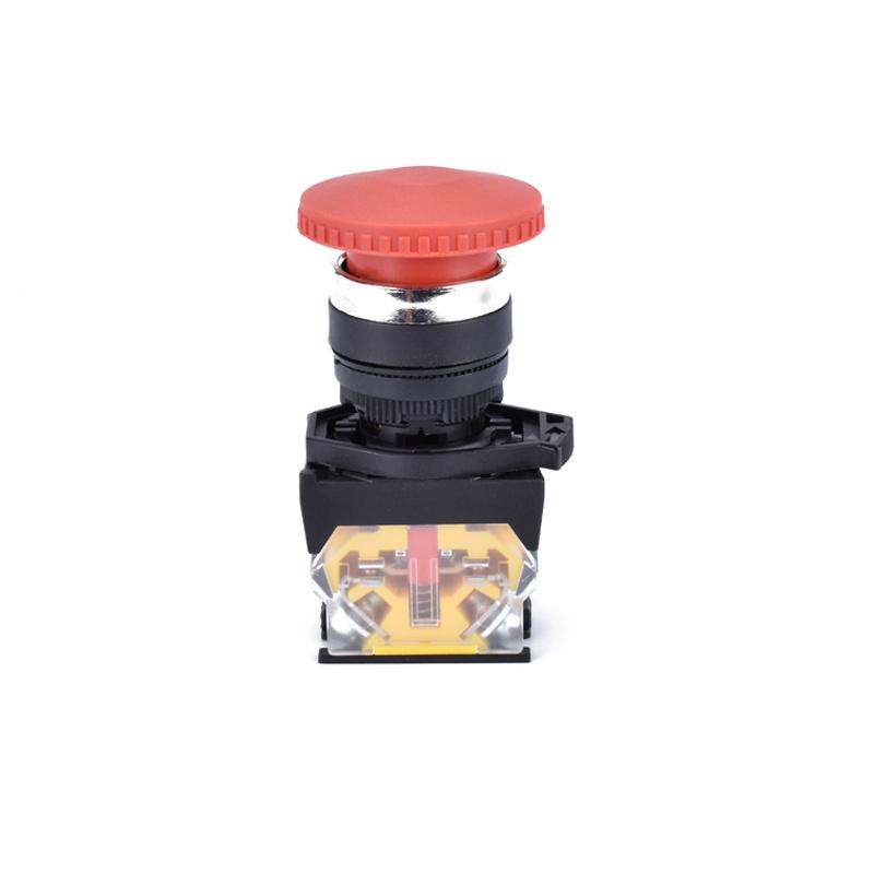 22mm metal spring return red mushroom head push button switch XDL31-CC42