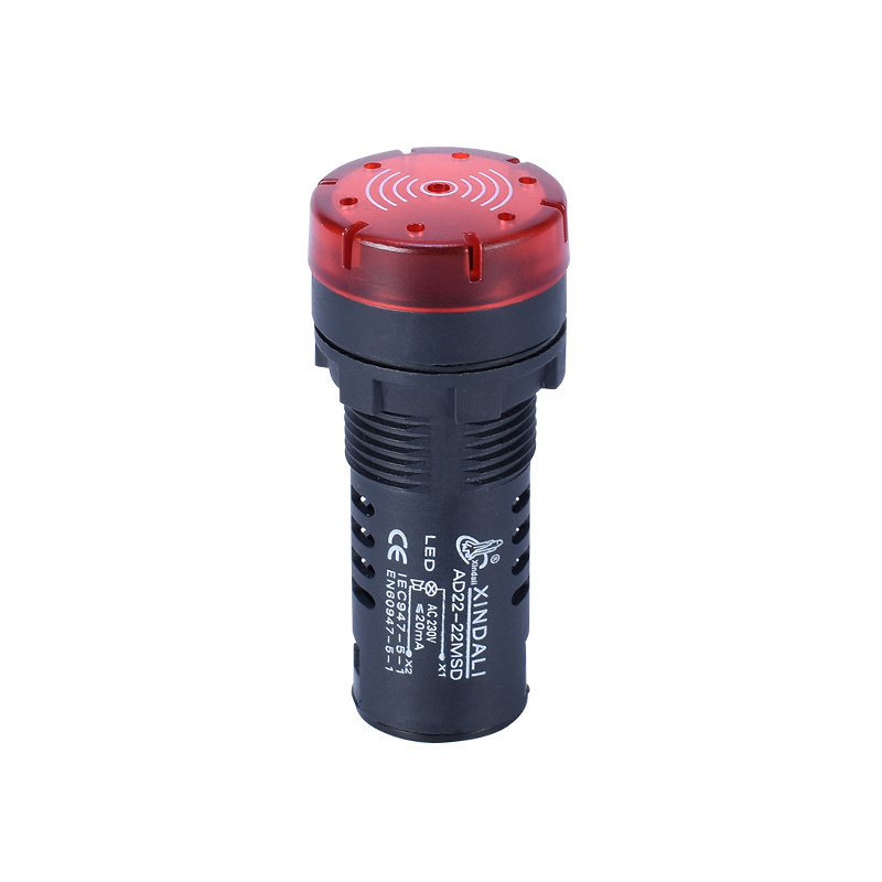 LED indicator light plastic warning buzzer signal lamp buzzerAD22-22MSD