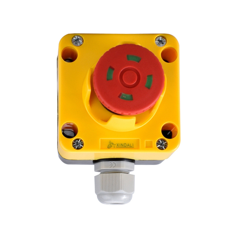1 hole emergency stop ip67 lamp industrial mushroom button station XDL722-JB184P