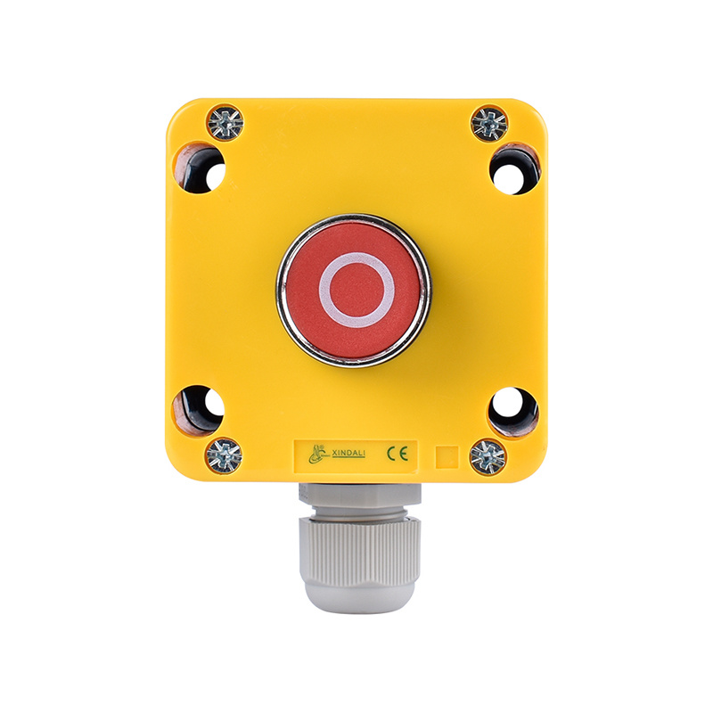 one hole marked button plastic enclosure box making machine XDL721-JB112P
