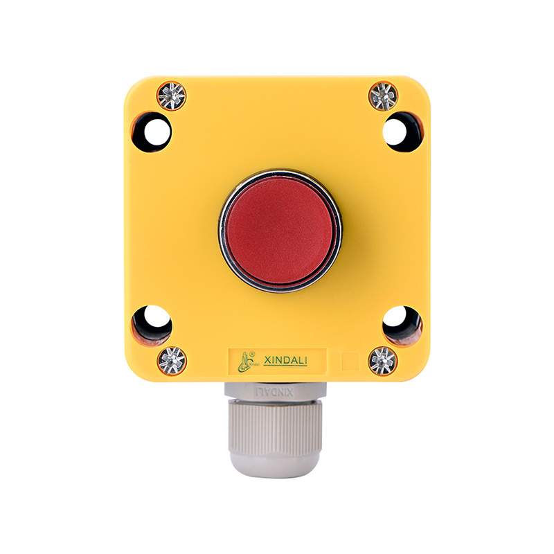 one hole red button plastic box for electronic push button box XDL721-JB111P
