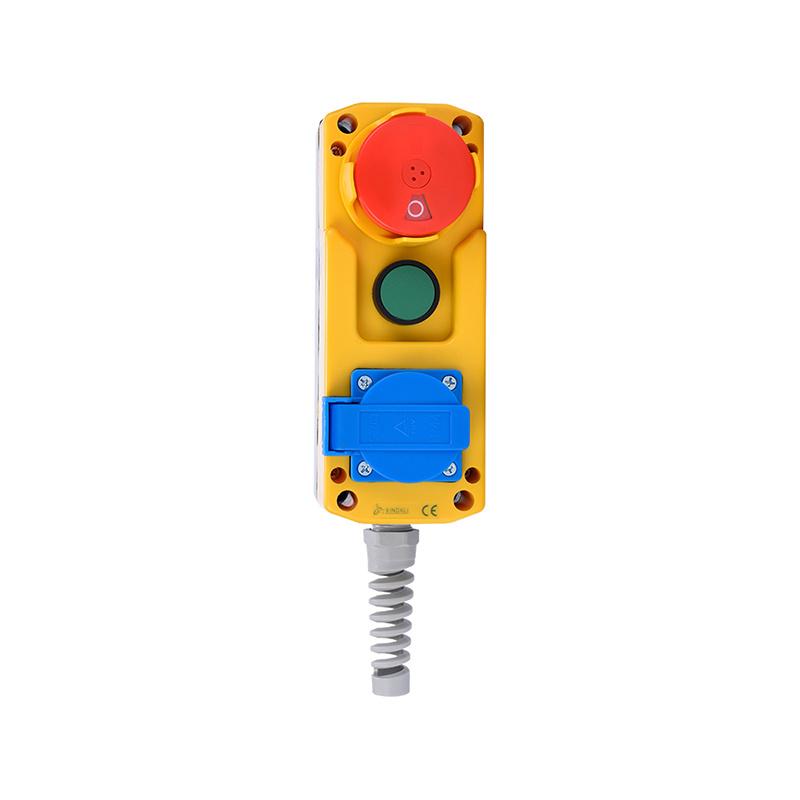 3 holes emergency mushroom push button switch control box XDL85-JB381F
