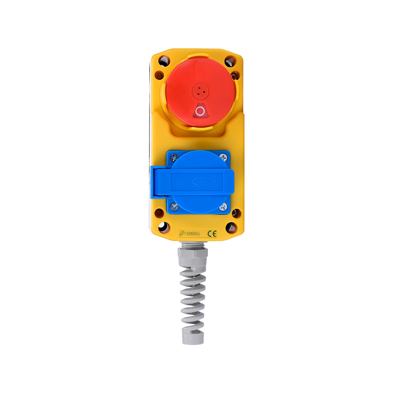 2 holes plastic electric switch socket ip65 industrial socket push button box XDL85-JB281F