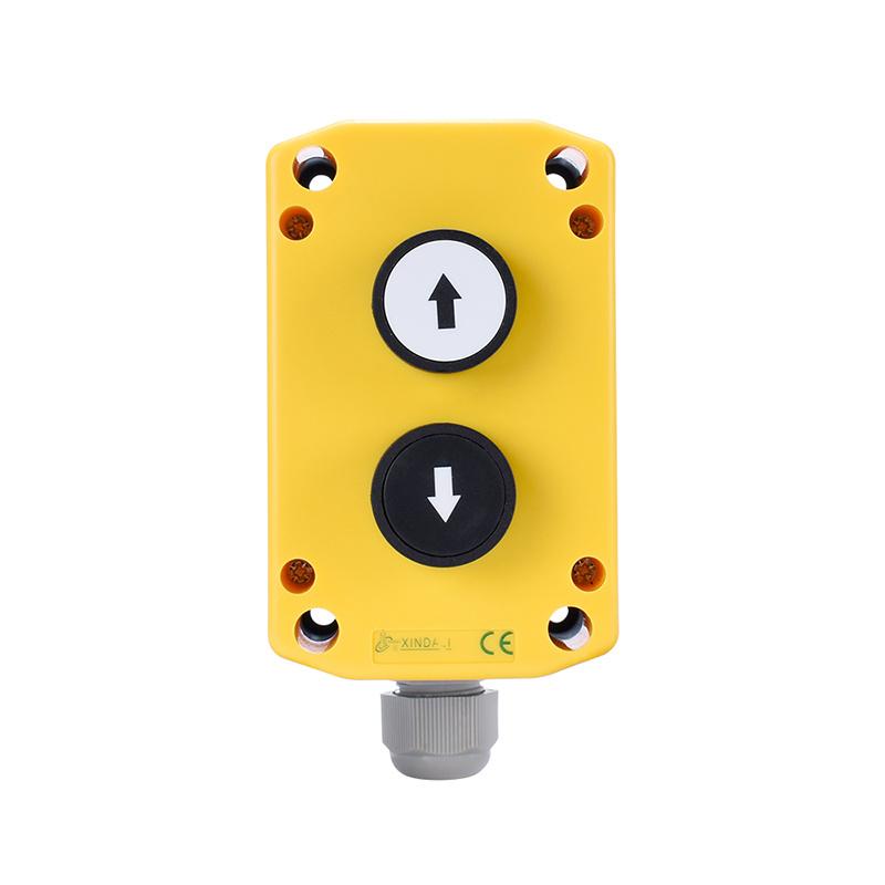 2 holes up down button xb2 push button switch box XDL75-JB223P