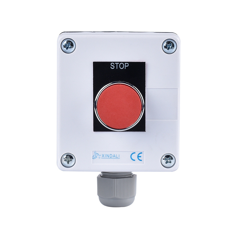 1 metal button electric push button control station switch boxes with signage XDL55-BB111PH29