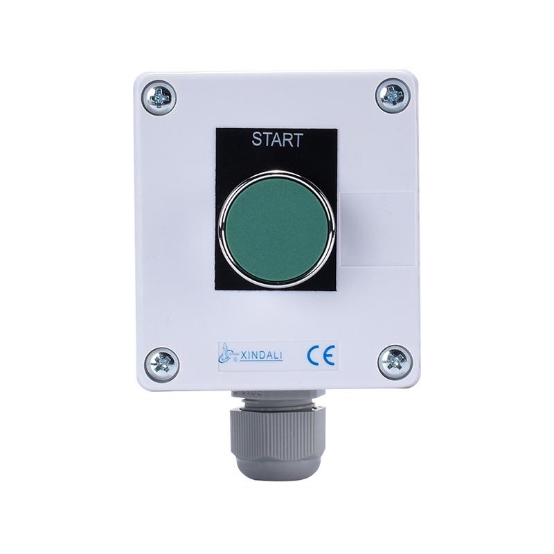 1 holes metal green button box crane spring return control switch box XDL55-BB101PH29