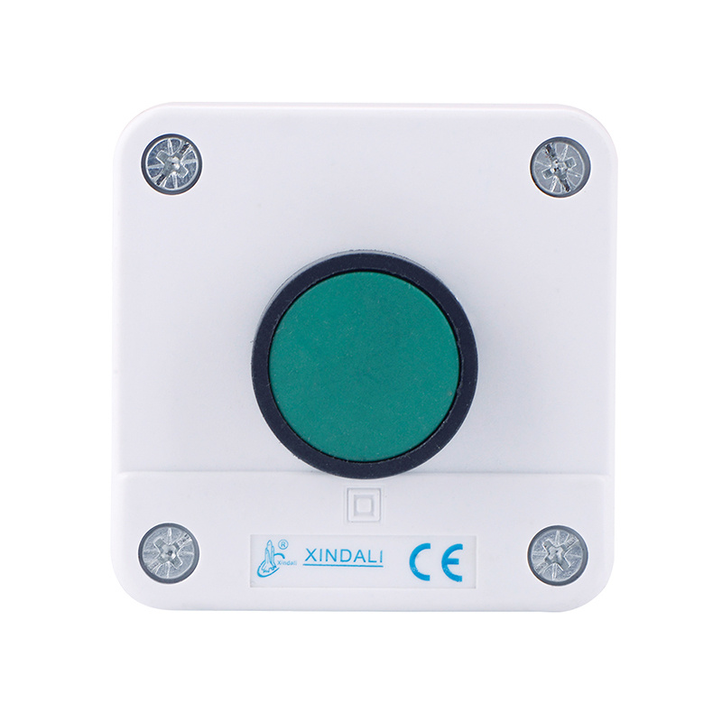 1 holes green button box crane spring return control switch box XDL55-B101
