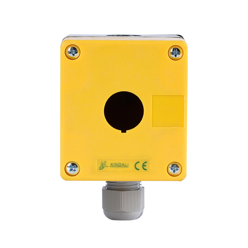 wenzhou yellow crane control box single button remote control box with cable XDL5-JB01P