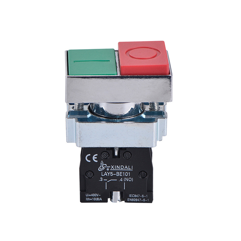 double head green and red on off push button switch LAY5-BL8425