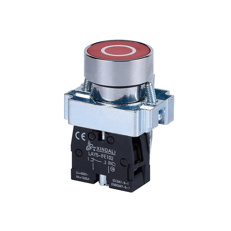 metals electrical red electrical switches flush spring return push button LAY5-BA4322
