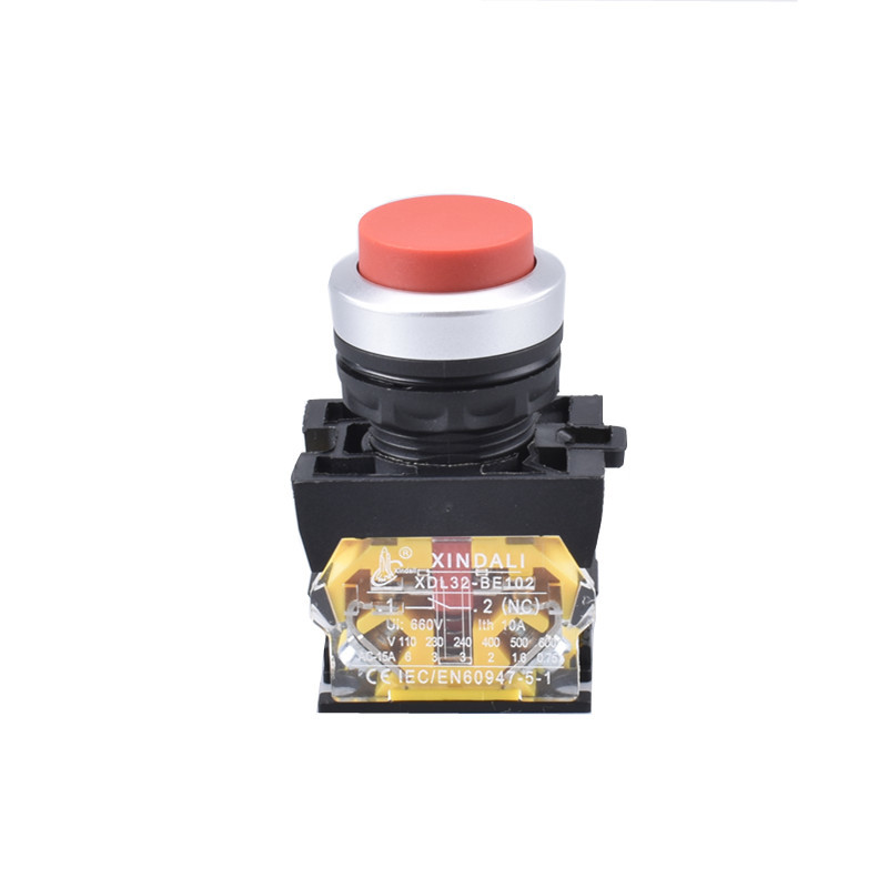 waterproof ip67 red convex head pushbutton switch XDL32-CL42